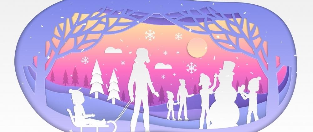 Papercut winter holiday